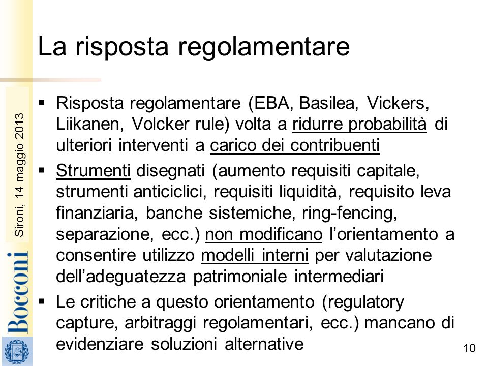 La risposta regolamentare
