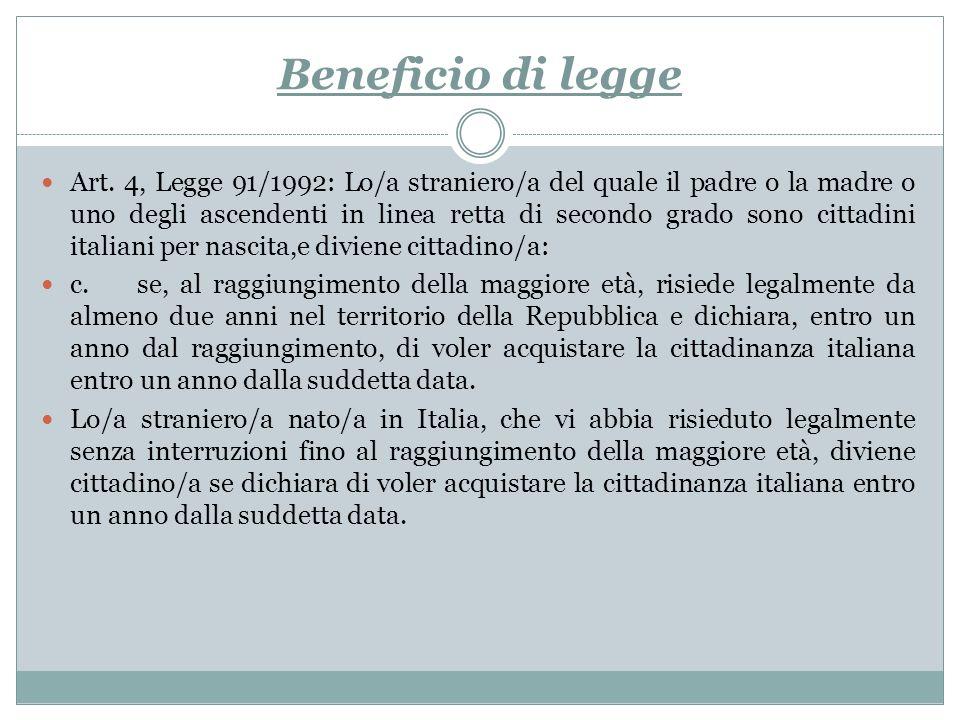 Beneficio di legge