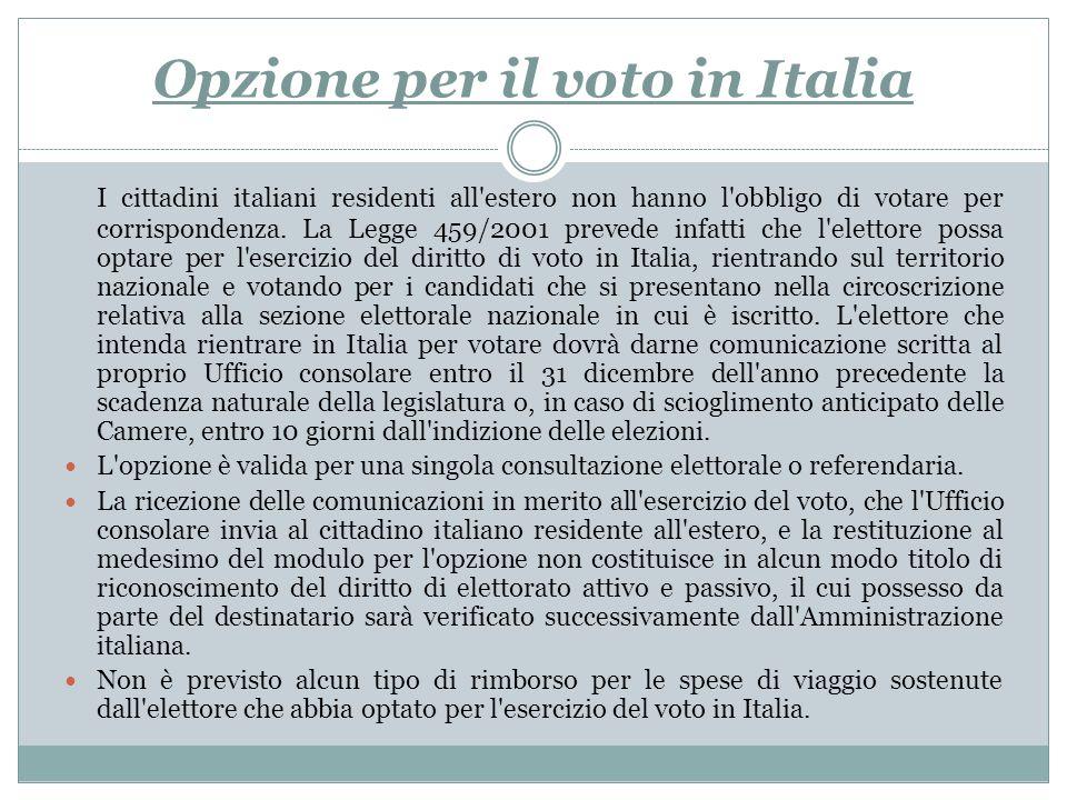 Opzione per il voto in Italia
