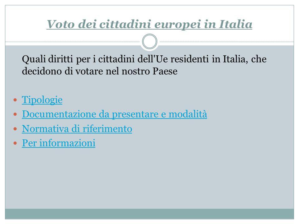 Voto dei cittadini europei in Italia