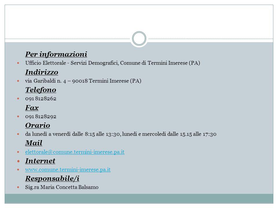 Internet Per informazioni