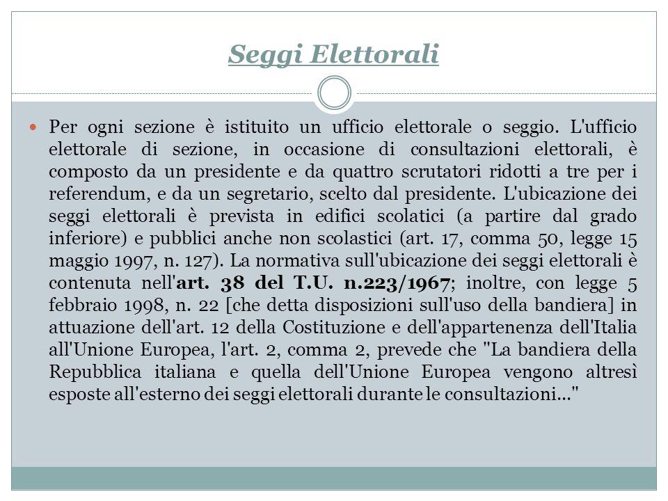 Seggi Elettorali