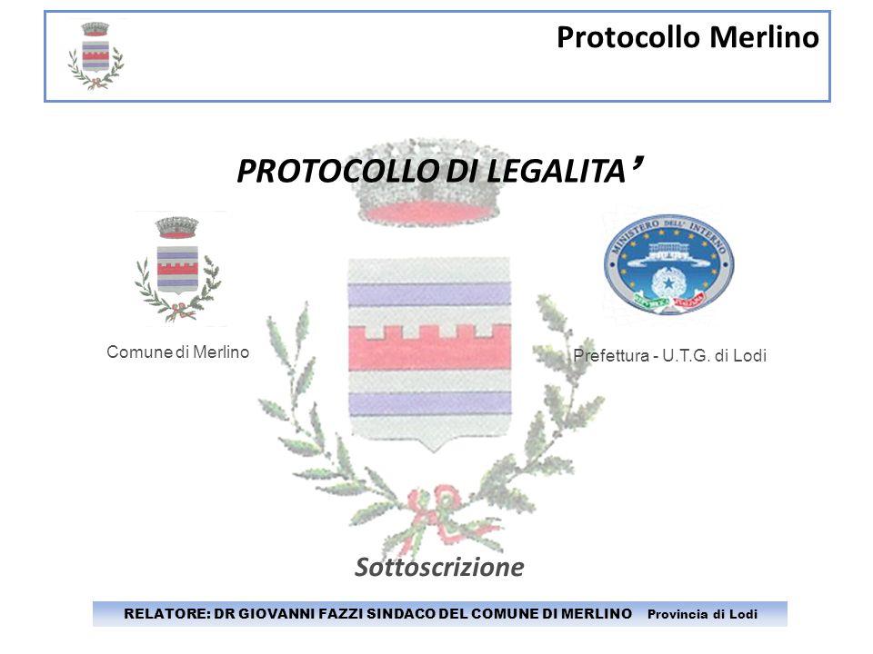 PROTOCOLLO DI LEGALITA'