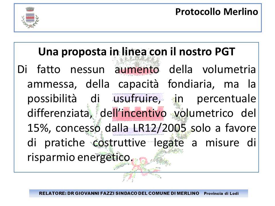 Una proposta in linea con il nostro PGT
