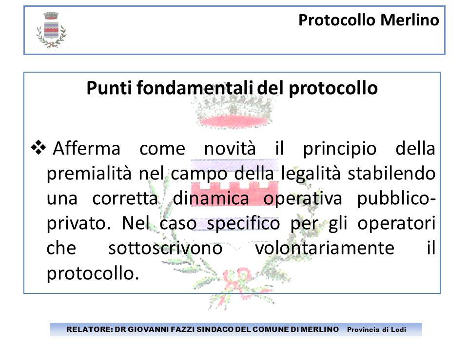 Punti fondamentali del protocollo