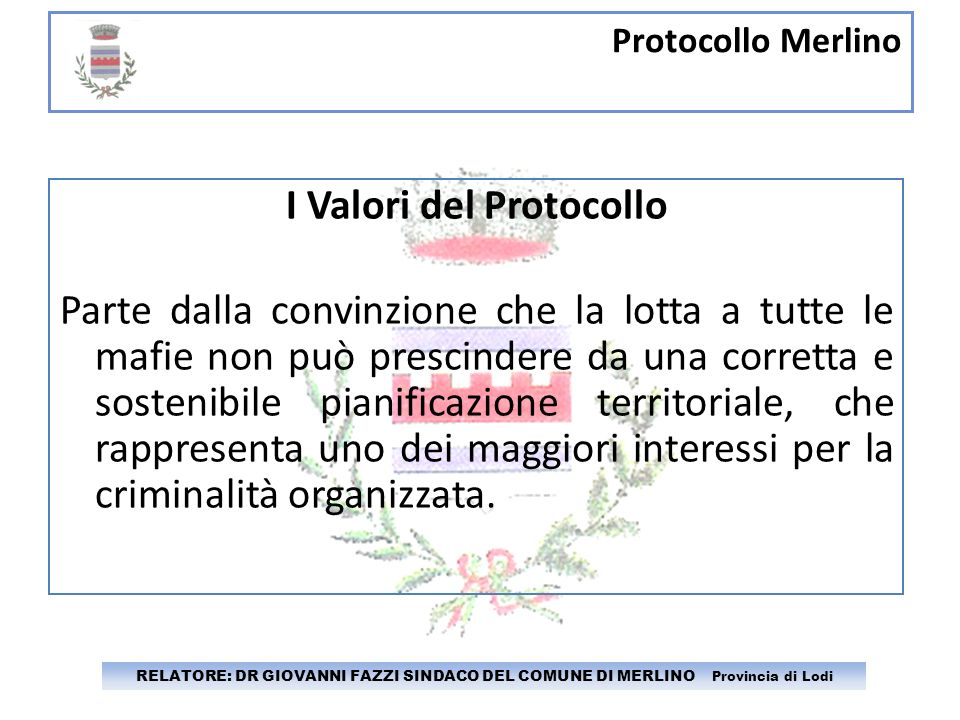 I Valori del Protocollo
