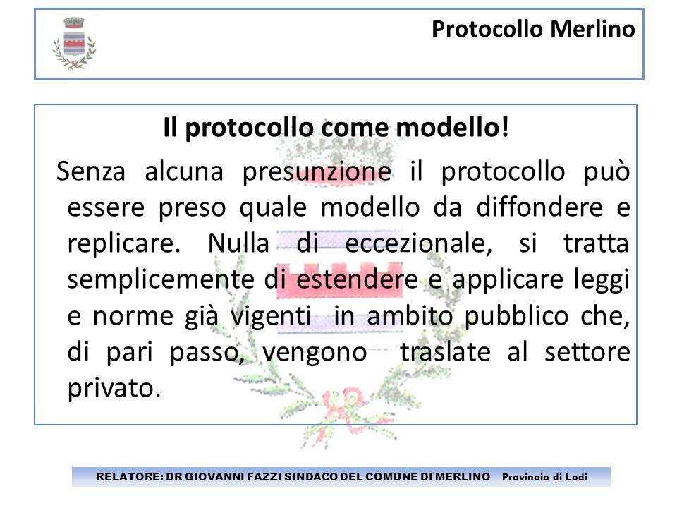 Il protocollo come modello!