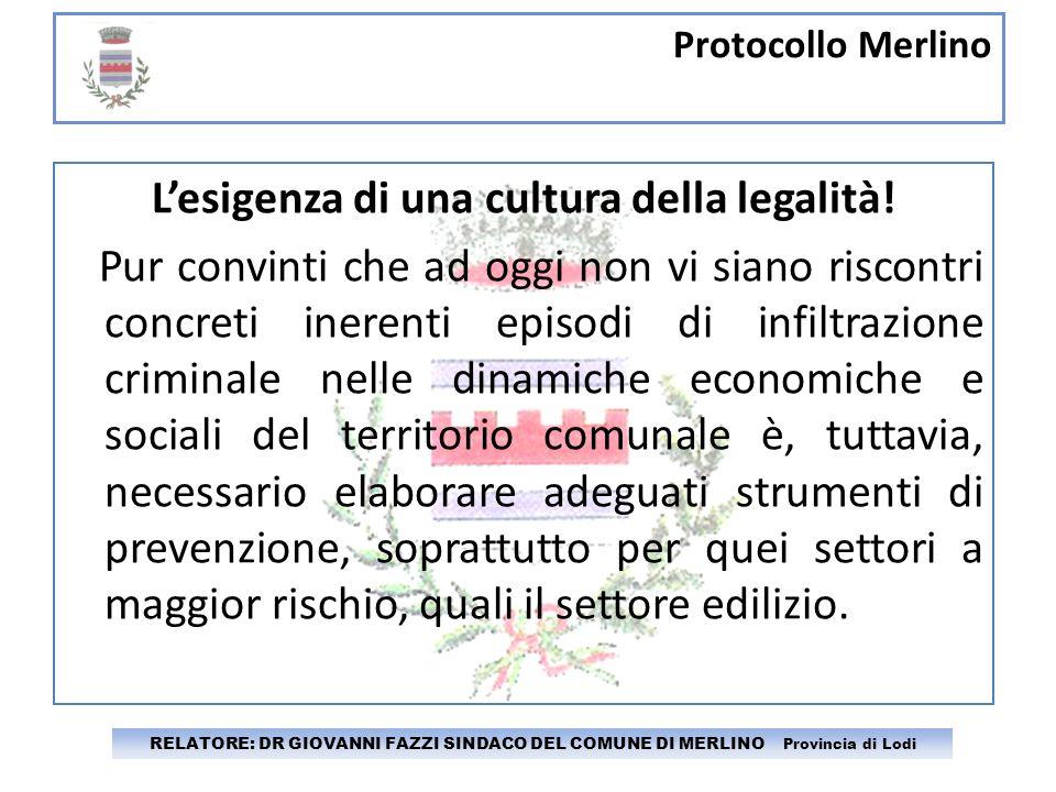 L'esigenza di una cultura della legalità!