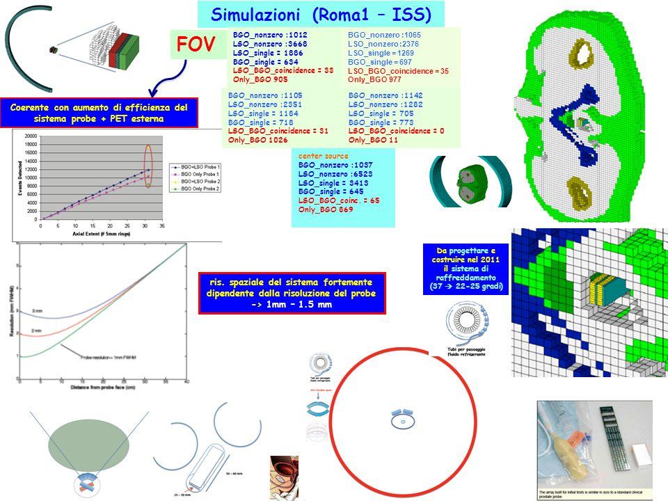FOV Simulazioni (Roma1 – ISS)