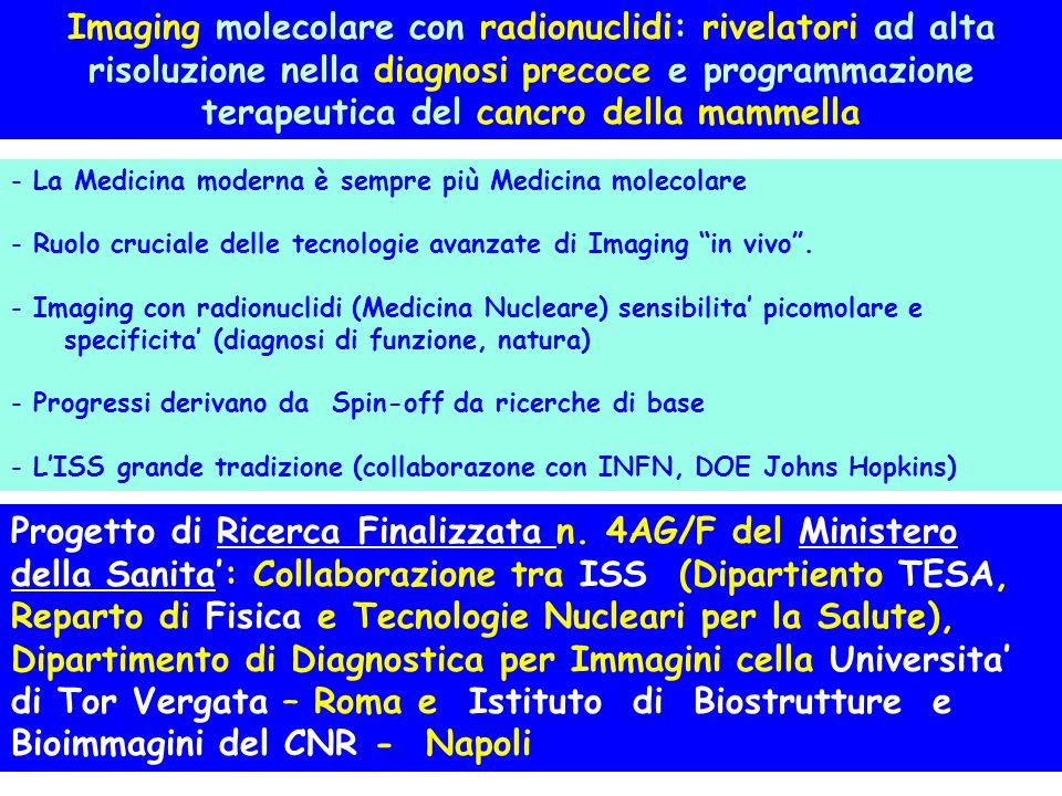 Imaging molecolare con radionuclidi: rivelatori ad alta risoluzione nella diagnosi precoce e programmazione terapeutica del cancro della mammella