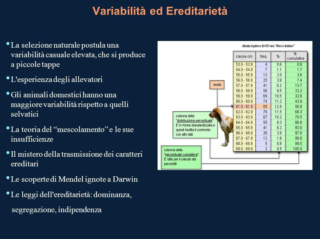 Variabilità ed Ereditarietà