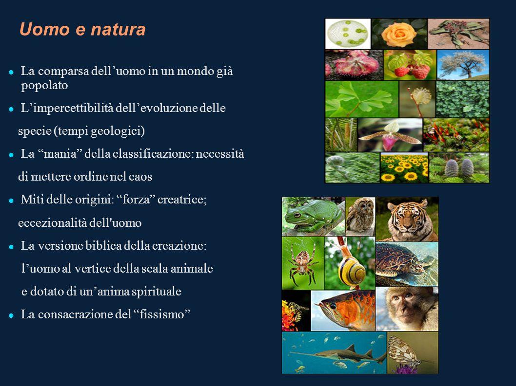 Uomo e natura La comparsa dell'uomo in un mondo già popolato