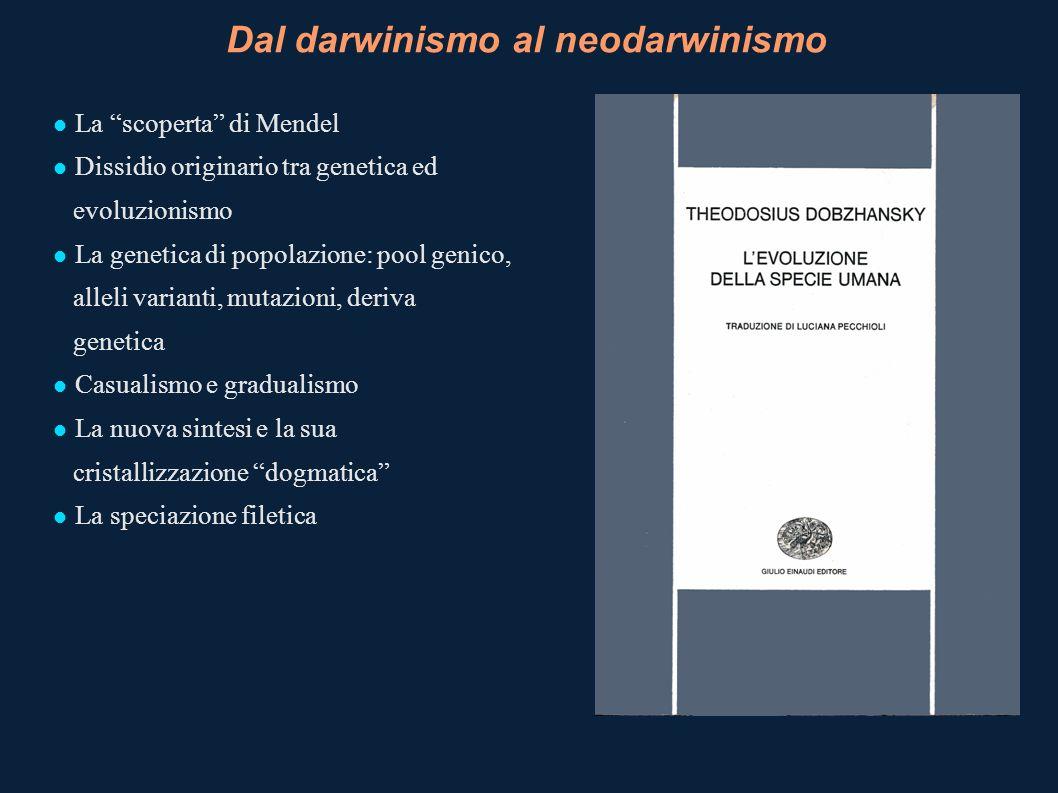 Dal darwinismo al neodarwinismo
