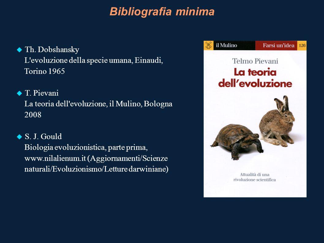 Bibliografia minima Th. Dobshansky