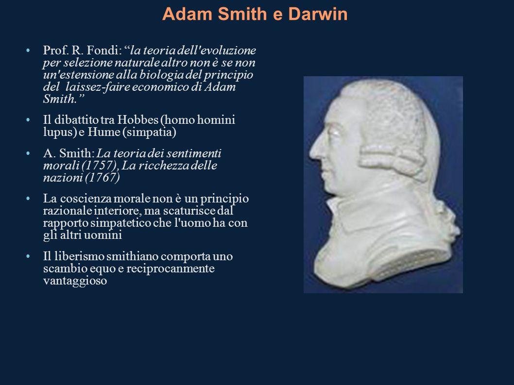 Adam Smith e Darwin