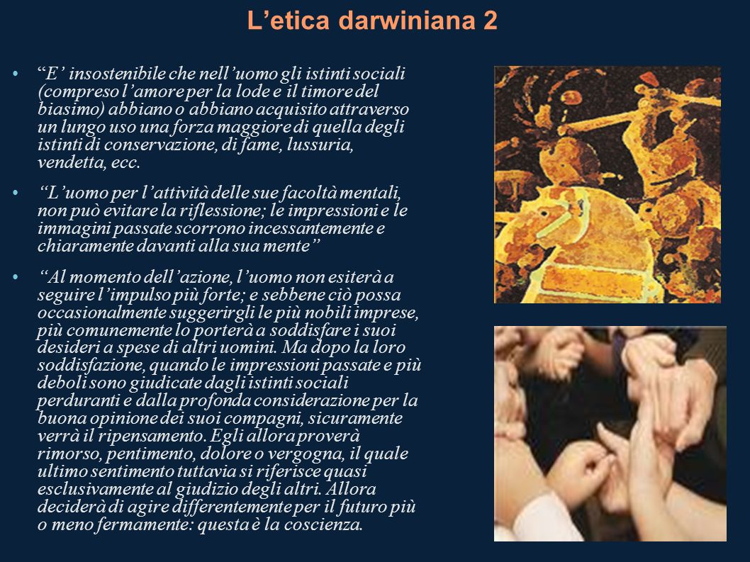 L'etica darwiniana 2