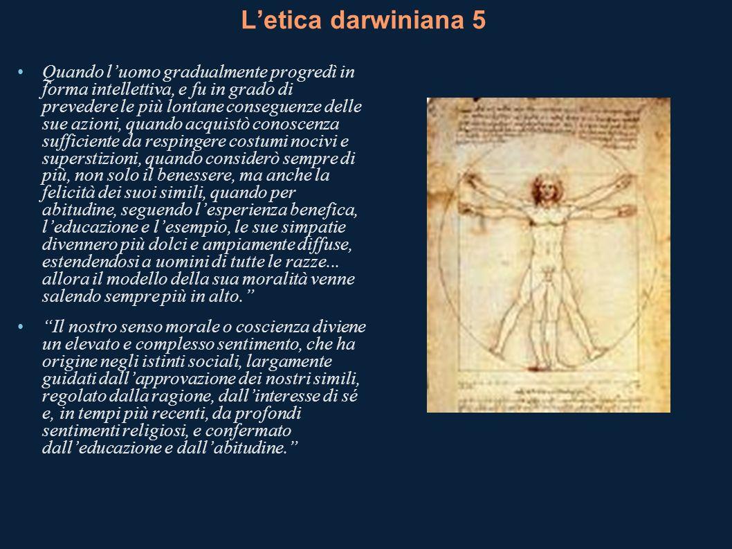 L'etica darwiniana 5