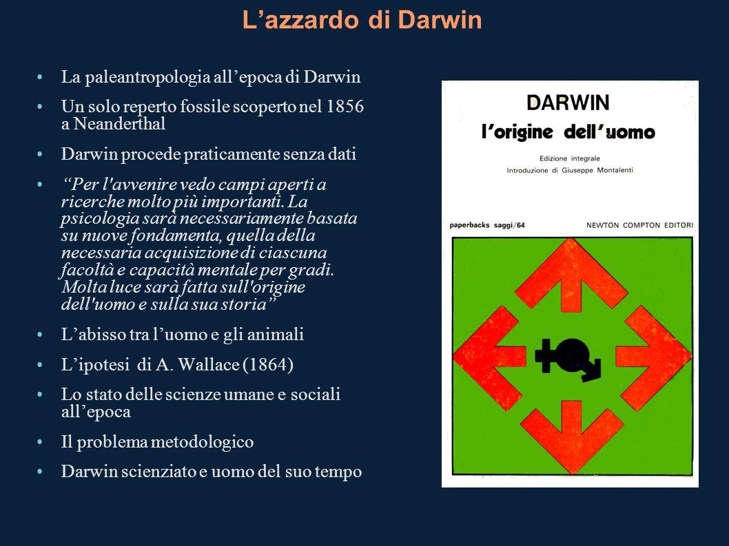 L'azzardo di Darwin La paleantropologia all'epoca di Darwin