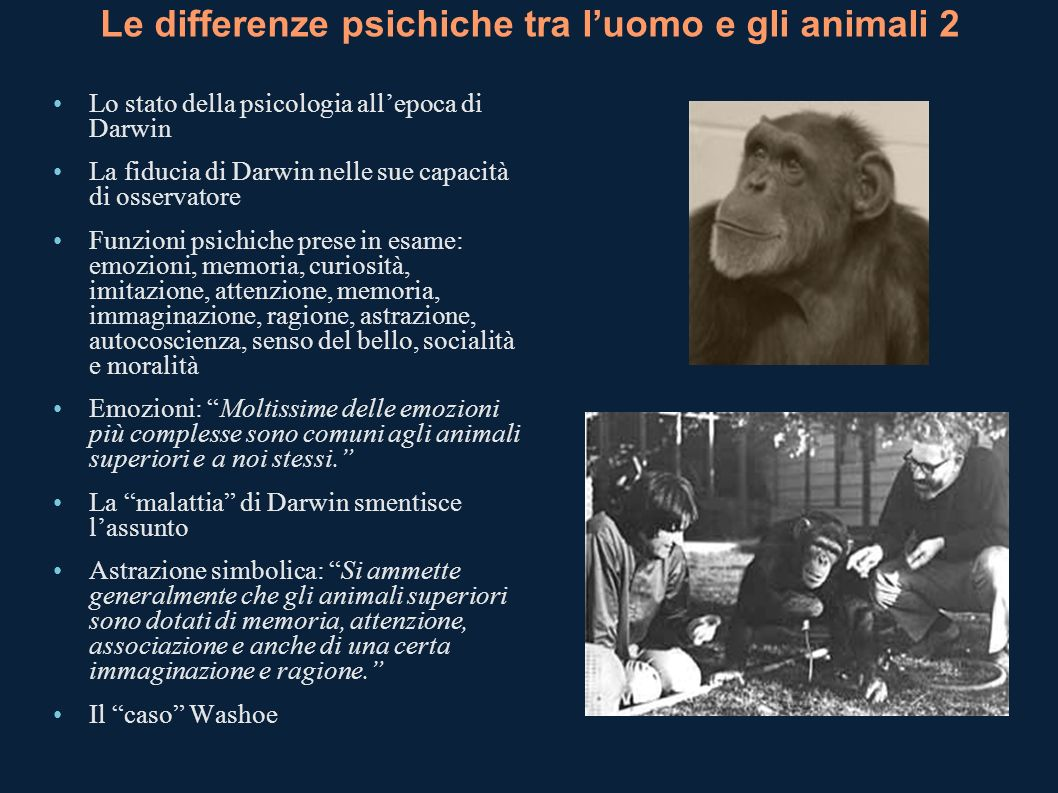 Le differenze psichiche tra l'uomo e gli animali 2
