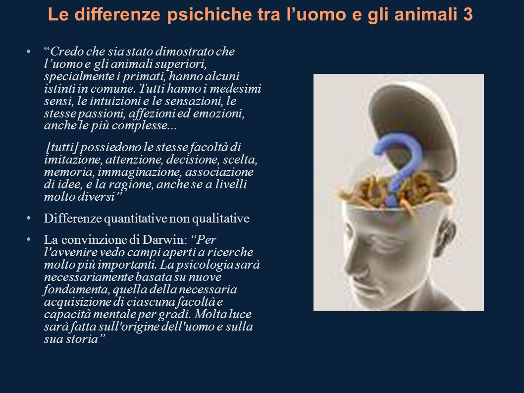 Le differenze psichiche tra l'uomo e gli animali 3