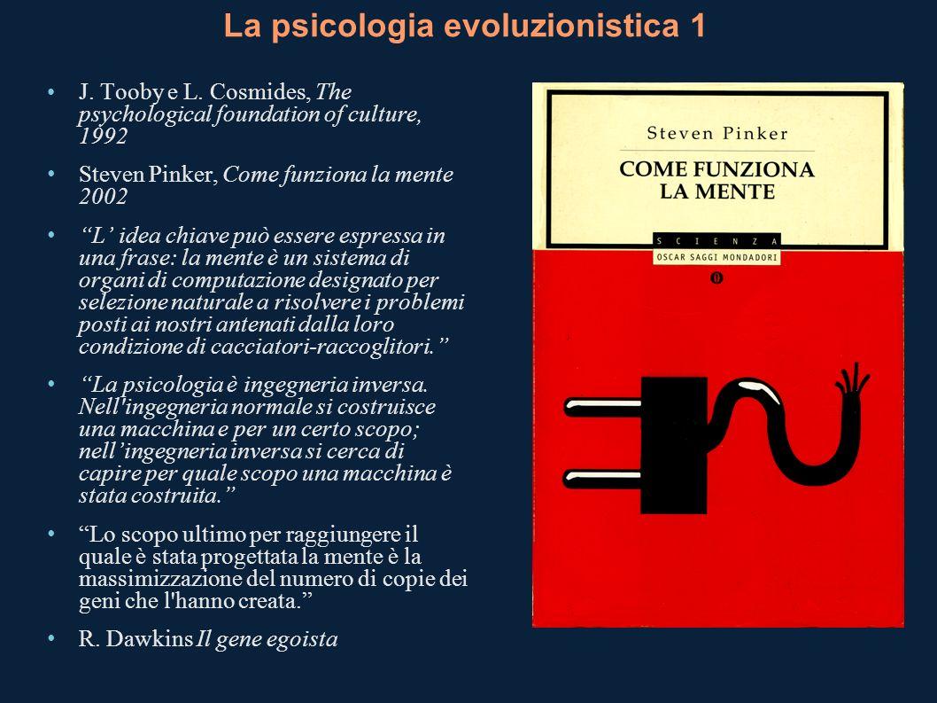 La psicologia evoluzionistica 1
