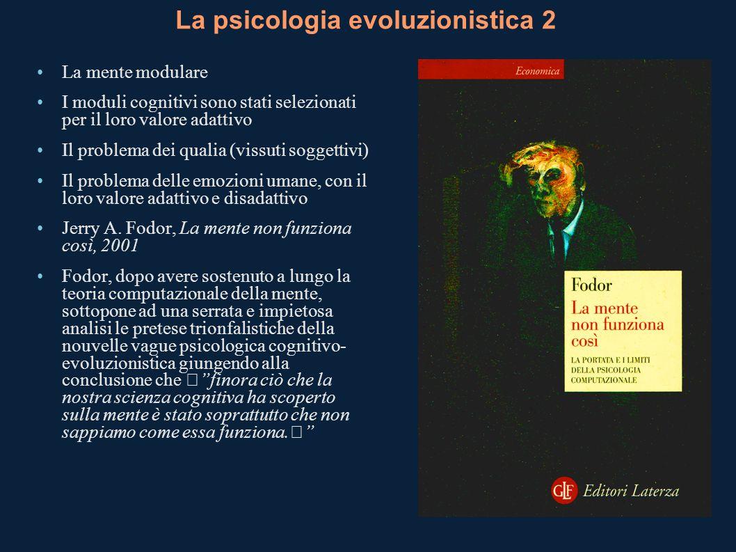 La psicologia evoluzionistica 2