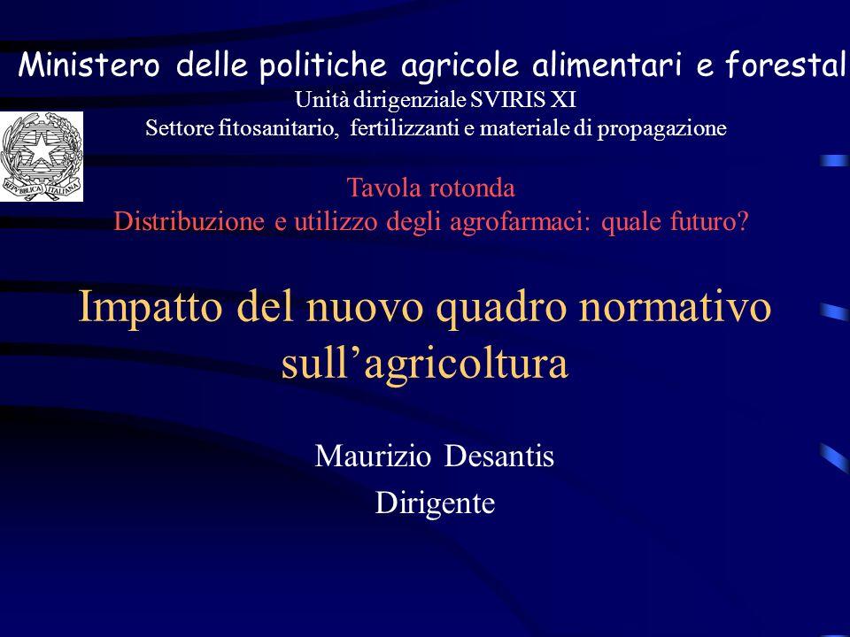 Impatto del nuovo quadro normativo sull'agricoltura