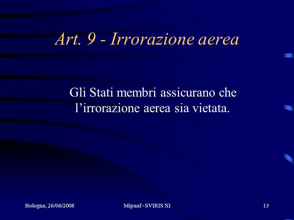 Art. 9 - Irrorazione aerea