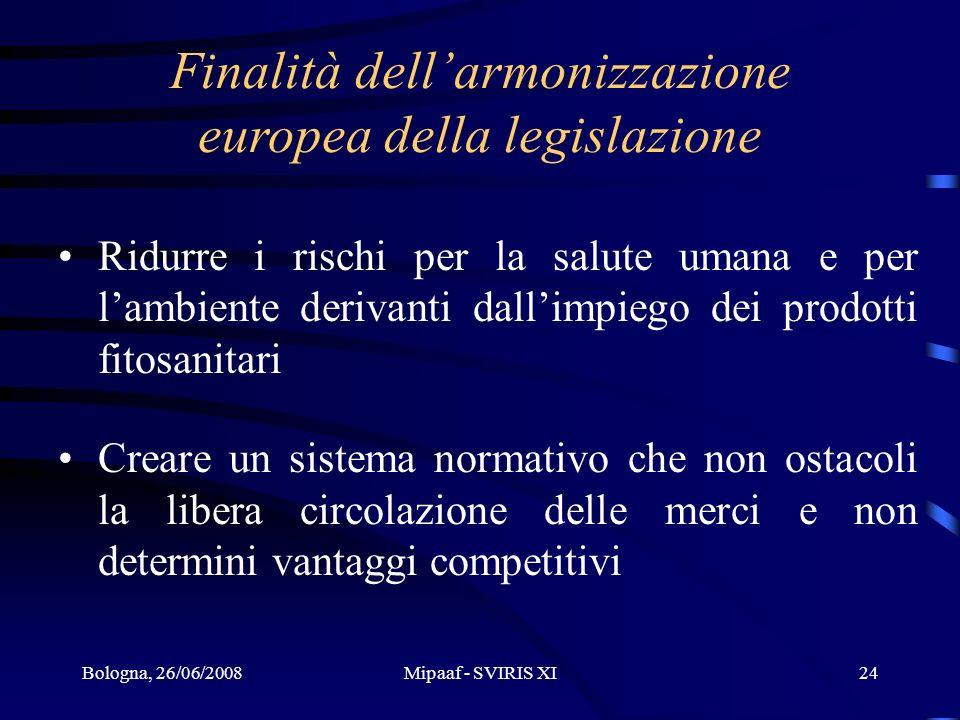 Finalità dell'armonizzazione europea della legislazione