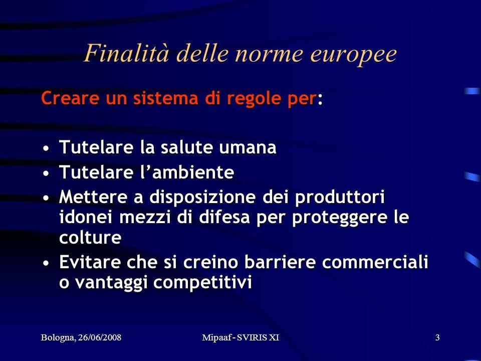 Finalità delle norme europee