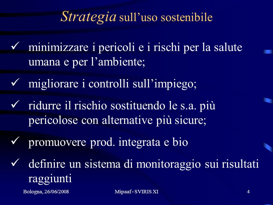 Strategia sull'uso sostenibile