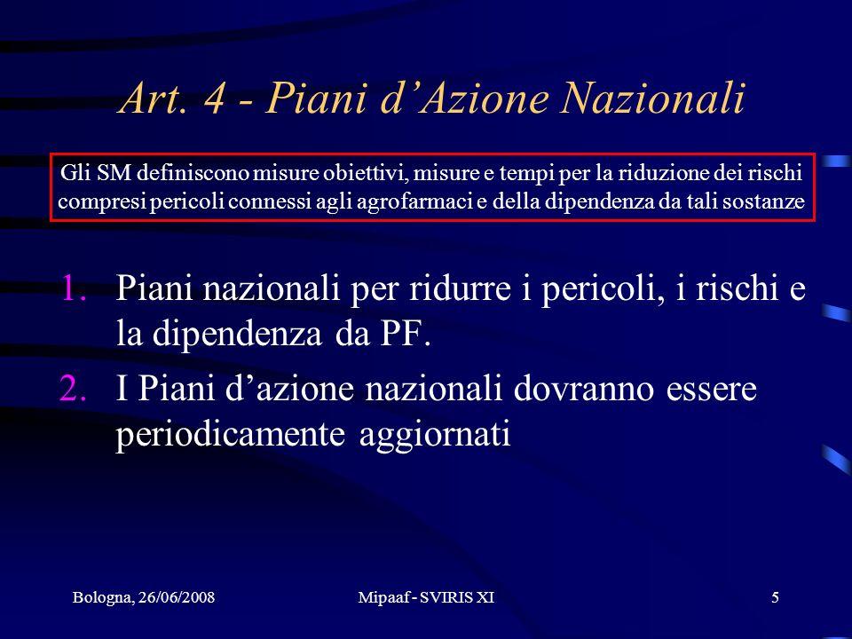 Art. 4 - Piani d'Azione Nazionali