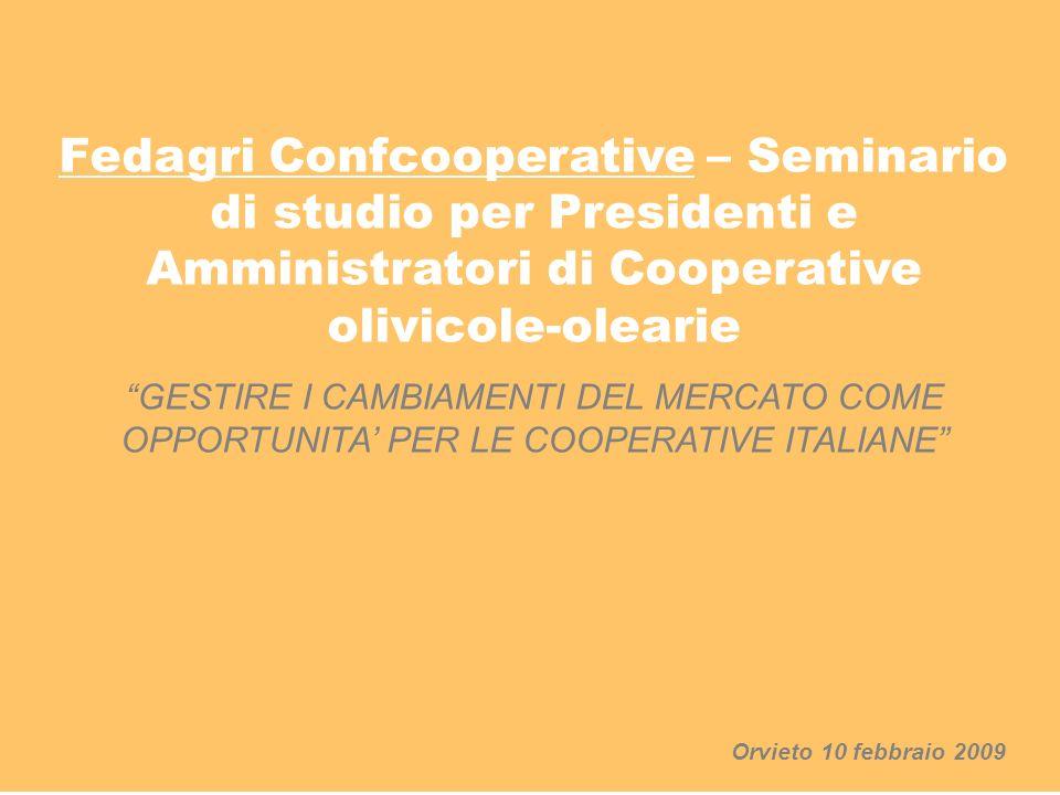 Fedagri Confcooperative – Seminario di studio per Presidenti e Amministratori di Cooperative olivicole-olearie