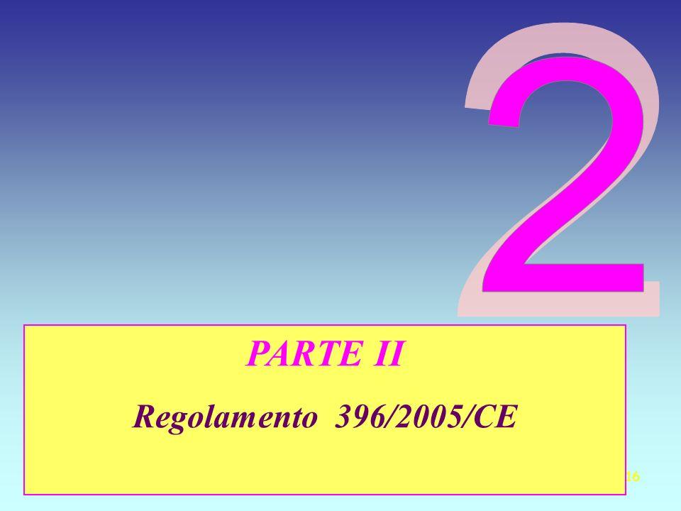 2 PARTE II Regolamento 396/2005/CE