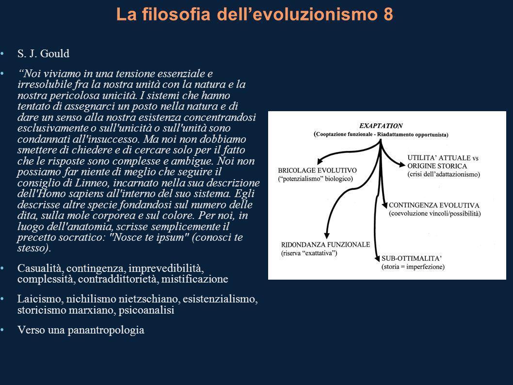 La filosofia dell'evoluzionismo 8
