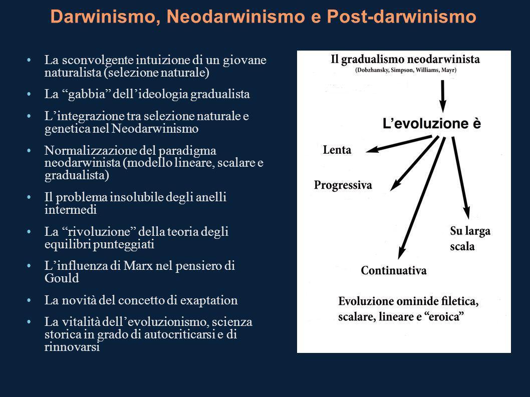 Darwinismo, Neodarwinismo e Post-darwinismo