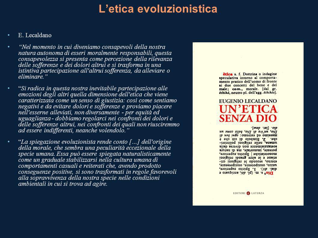 L'etica evoluzionistica