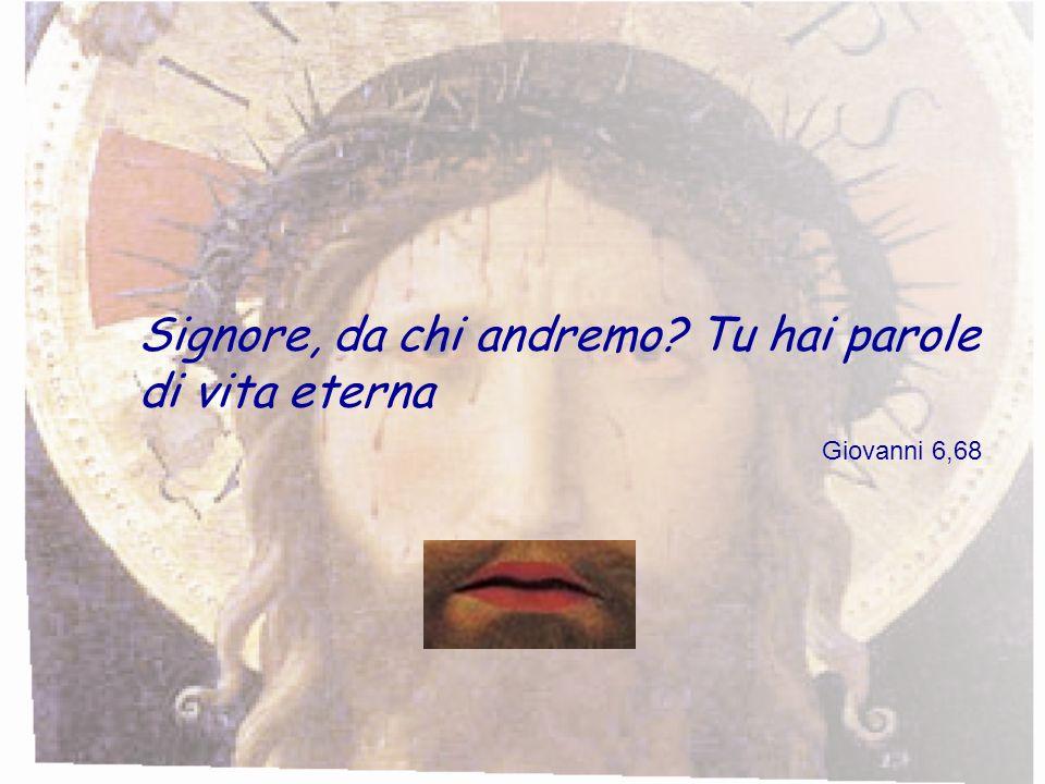 Signore, da chi andremo Tu hai parole di vita eterna