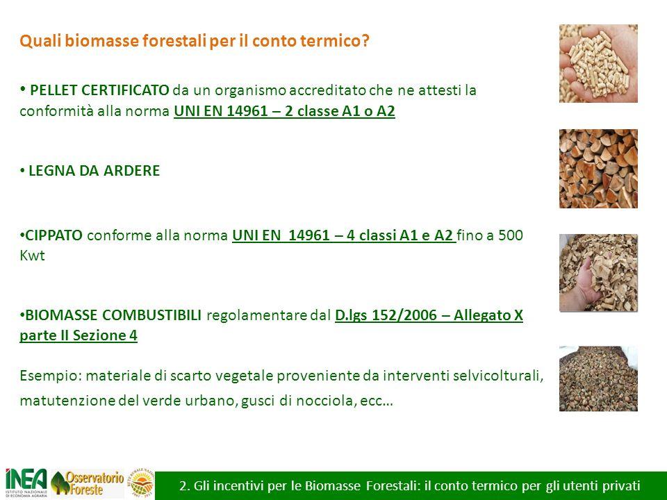 Quali biomasse forestali per il conto termico