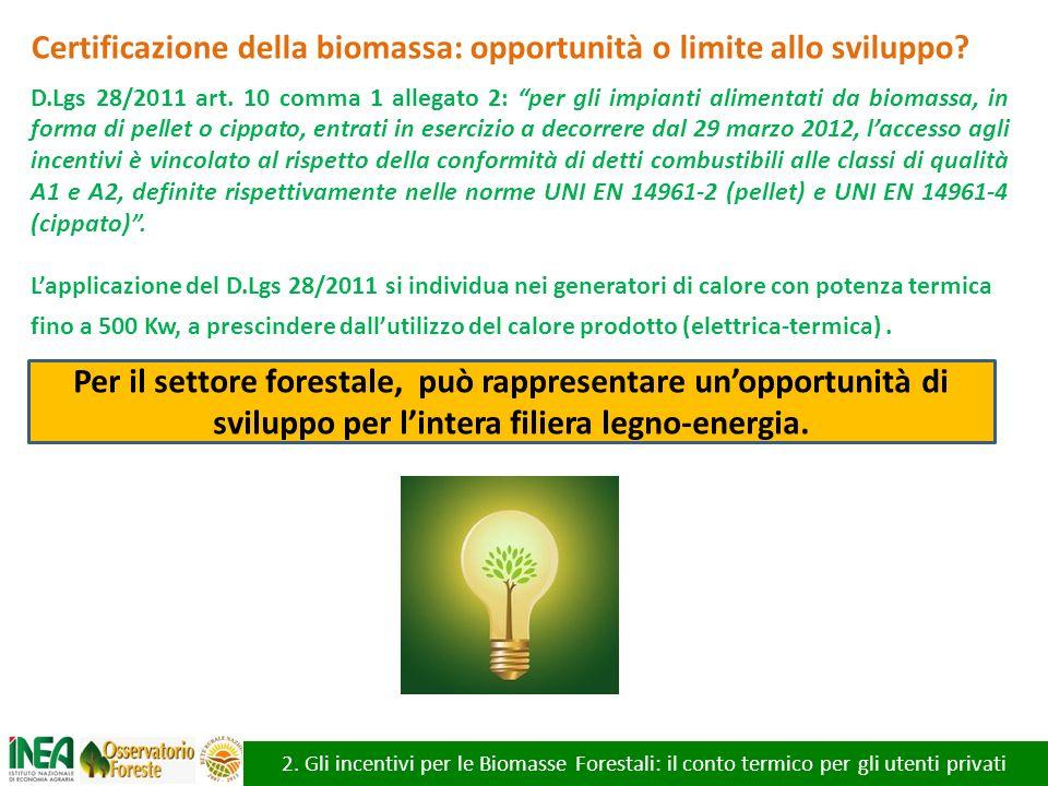 Certificazione della biomassa: opportunità o limite allo sviluppo