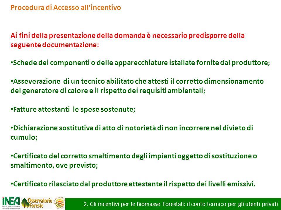 Procedura di Accesso all'incentivo