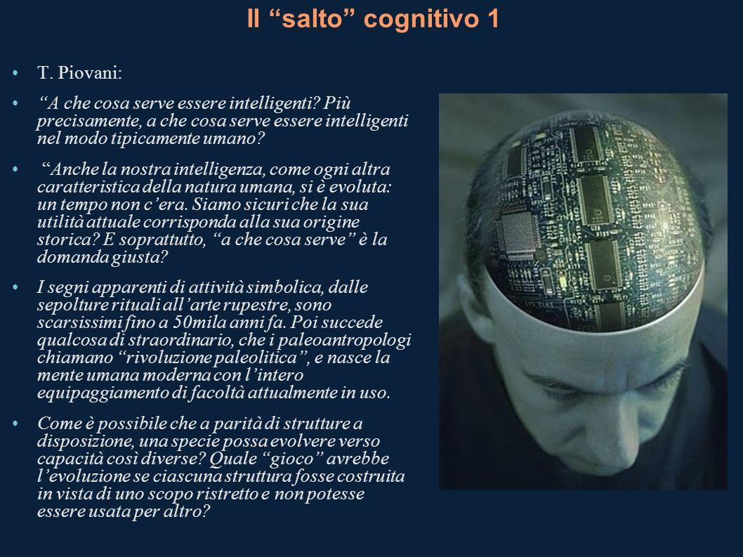 Il salto cognitivo 1 T. Piovani: