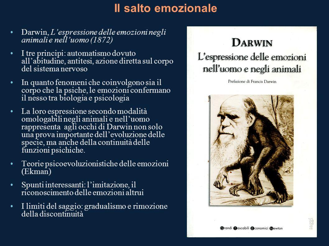 Il salto emozionaleDarwin, L'espressione delle emozioni negli animali e nell'uomo (1872)