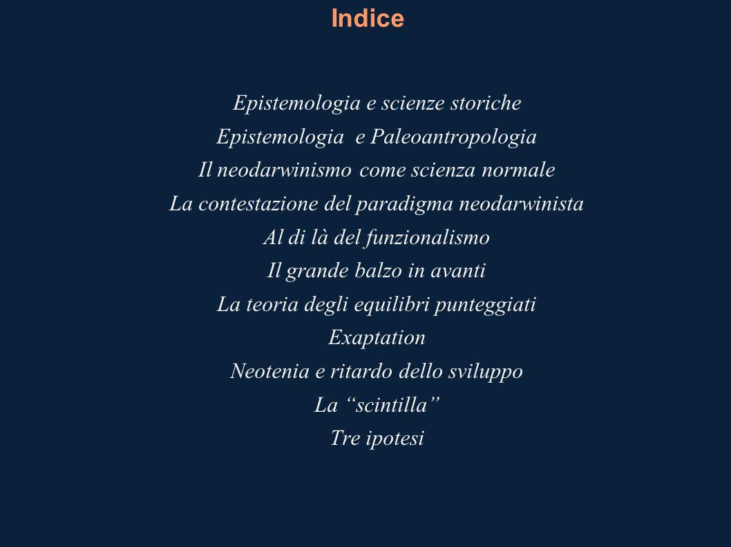 Indice Epistemologia e scienze storiche