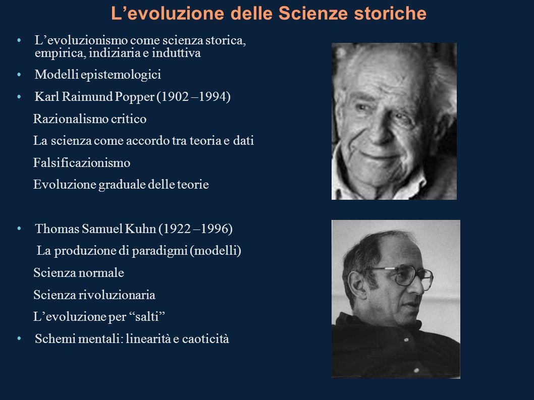 L'evoluzione delle Scienze storiche