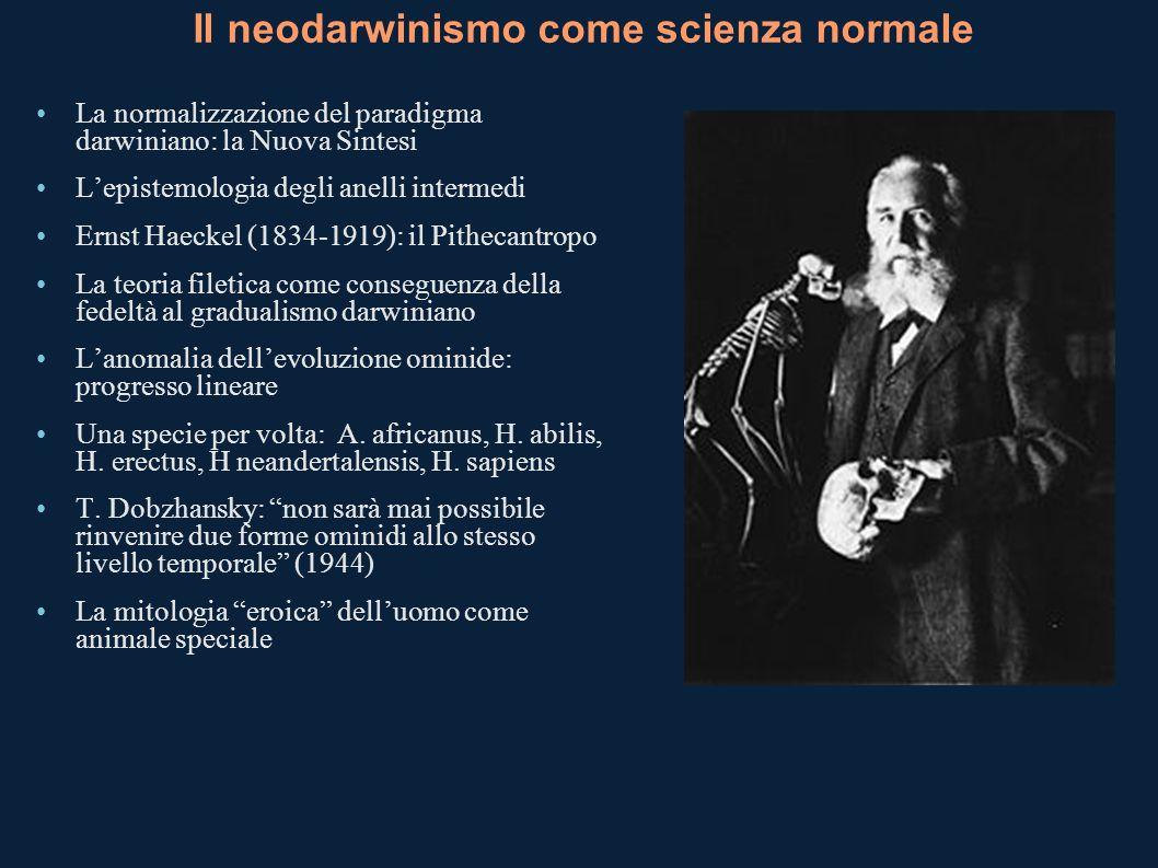 Il neodarwinismo come scienza normale
