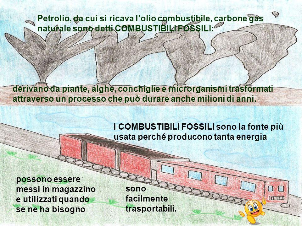 Petrolio, da cui si ricava l'olio combustibile, carbone gas naturale sono detti COMBUSTIBILI FOSSILI: