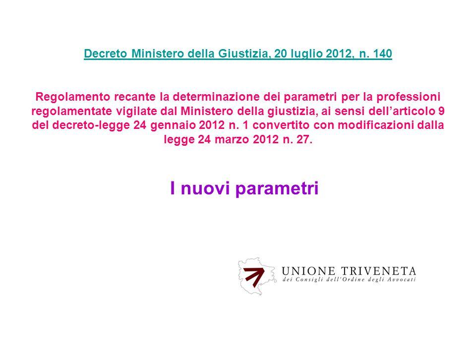 Decreto Ministero della Giustizia, 20 luglio 2012, n