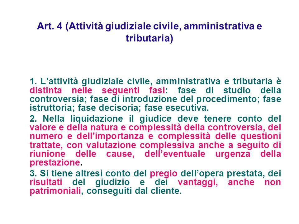 Art. 4 (Attività giudiziale civile, amministrativa e tributaria)