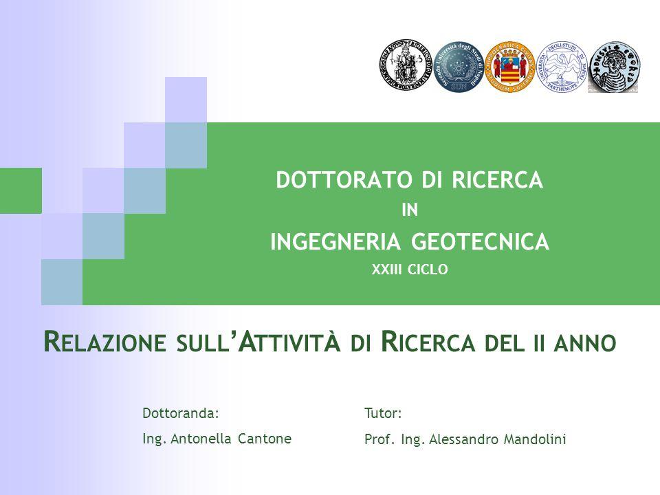 dottorato di ricerca in ingegneria geotecnica xxiii ciclo